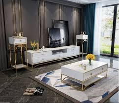 modernes design wohn wand wohnzimmer sideboard rtv regal blumenständer 3tlg neu