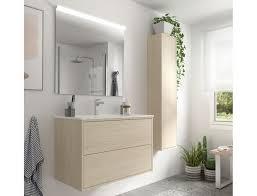 badezimmer badmöbel 80 cm ulisse aus nordik farbe holz mit porzellan waschtisch abmessungen 80 cm zubehör standard