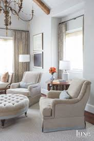 Blue Master Bedroom Sitting Area With Two Comfy Chairs And ...