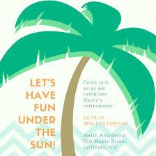 Beach Themed Retirement Party Invitation