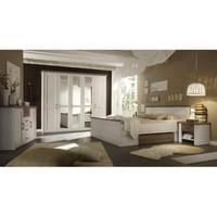 87 062 b5 luca komplettes schlafzimmer inkl kleiderschrank doppelbett nako s im set pinie weiß nb