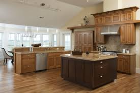 and light wood kitchen traditional with granite countertops