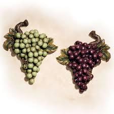 Bountiful Grapes Wall Accent Set Grape Kitchen DecorTuscan