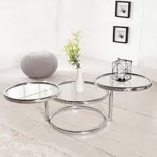 cagü deco design 3 ebenen beistelltisch saturnus chrom glas drehbar 55cm 155cm