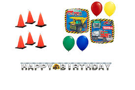 100 Tonka Truck Birthday Party Supplies Amazoncom S Theme Pack Balloons Candles