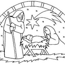 Nativity The Birth Of Jesus Scene Coloring Page