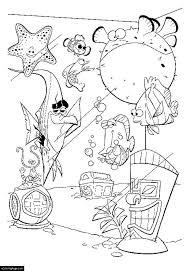 Finding Nemo And Friends From Aquarium Coloring Pages