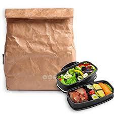 ecole de cuisine pour adulte hangnuo isotherme lunch sacs en papier marron grande réutilisable