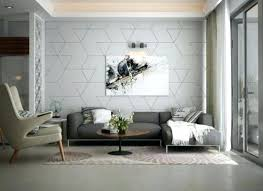 Gray Room With Accent Wall For Trendy Living Geometric Patterns Grey