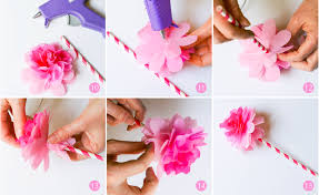 Ruff Draft DIY Tissue Paper Flower From Our Birthday Girl Doll Party