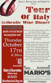 Troegs Master Of Pumpkins by A Tour Of Italy Wine Dinner Dante U0027s Restaurants U0026 Nightlife