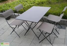 table de salon de jardin pliante table exterieur 4 personnes