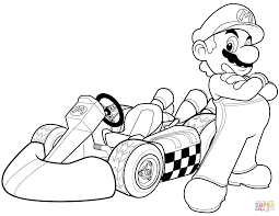 Click The Mario In Kart Wii Coloring Pages To View Printable Version Or Color It Online Compatible With IPad And Android Tablets