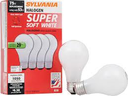 sylvania 50018 halogen soft white l a19 medium base 120v