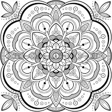 Line Drawings Online Mandala Coloring Pages Pdf About Kids