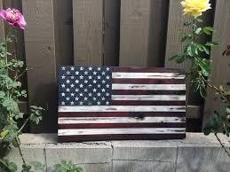 32x18 Rustic American Flag