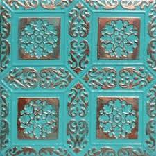 24x24 Pvc Ceiling Tiles alfa copper patina 24x24