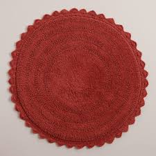 Round Red Bathroom Rug by 14 Remarkable Coral Bath Rugs Inspiration For You U2013 Direct Divide