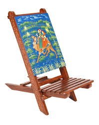 Rajrang Vintage Brown Wood Hand Painted Camel Chair: Amazon ...