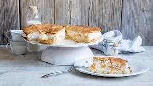 käse sahne kuchen mit mandarinen