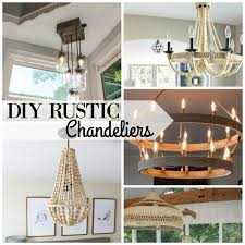 Diy Rustic Chandeliers Via Remodelaholic Com 600x600 Chandelier Home Design 5