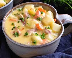 cuisine facile a faire recette facile de soupe crémeuse aux patates et bacon