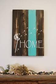 Home Pallet Sign Dandelion Rustic Decor Country Shabby Chic Teal Housewarming Gift Wedding Wall