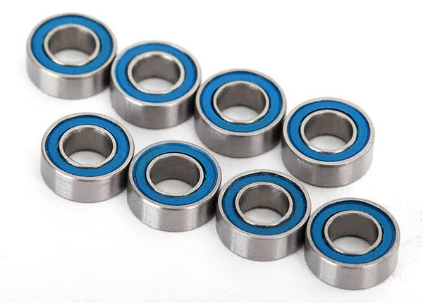 Traxxas 4x8x3mm Blue Rubber Sealed Ball Bearings (8) 7019R