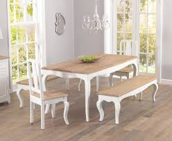 Shabby Chic Dining Room Furniture Uk by Parisian 175cm Shabby Chic Dining Table With Chairs And Benches