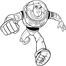 Toy Story Buzz Lightyear Goes Quickly Coloring Pages