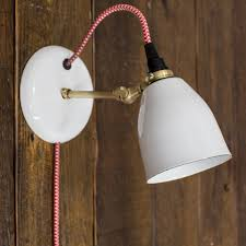 lovell porcelain in sconce modern barn light electric with