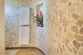 mixed quartz pebble tile bathroom walls pebble tile shop