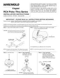 Recessed Poke Through Floor Box by Rc4 Series Poke Thru Devices Installation Instructions