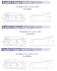 Tub Overflow Gasket Diagram by Deluxe Acrylic Slipper Tubs