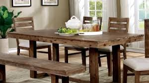 Interior Design For Furniture Of America Treville Country Farmhouse Natural Tone Plank Style Dining Table