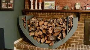 diy firewood holder youtube