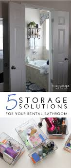 5 Storage Solutions For Your Rental Bathroom Tips| ForRent Elegant Storage For Small Bathroom Spaces About Home Decor Ideas Diy Towel Storage Fniture Clever Bathroom Ideas Victoriaplumcom 16 Epic Master Cabinet Aricherlife Tower Little Pink Designs 18 Genius 43 Minimalist Organization Deocom Rustic 17 Brilliant Over The Toilet Easy Hack Wartakunet