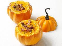 Pumpkin Butternut Squash Soup Vegan by Squash Soup In Pumpkin Bowls Recipe Food Network Kitchen Food