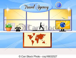 Travel Agency Stock Illustration