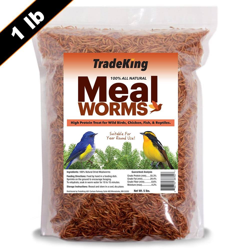 Tradeking 1 lb Dried Mealworms High Protein