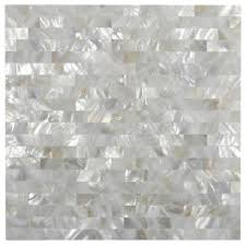 white brick groutless pearl shell tile modern tile by subway