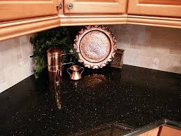 Astonishing Black Granite Countertops With Tile Backsplash Decoration Ideas Fireplace Painting For Galaxy Houston