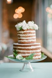 Rustic Carrot Wedding Cake Two Tiered Naked With Flowers Cakes