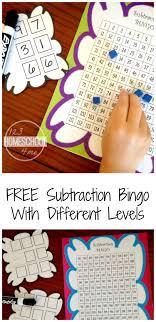 100 Truck Mania Cool Math FREE Subtraction Bingo Game Teaching Ideas Subtraction