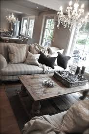 But Id Replace The Crystal Chandeliers With Drum Shade For A More Modern Look GREY WALLS FURNITURE Rustic Living Room