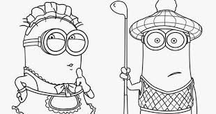 Despicable Me Coloring Pages Free Minion