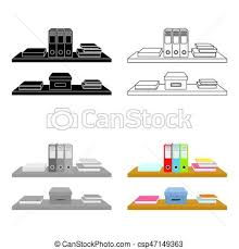 arriere plan de bureau animé dossiers style illustration bureau étagères symbole clip