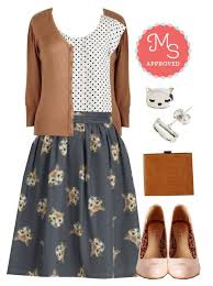 It Had To Be Mew Skirt By Modcloth On Polyvore Featuring Fashion Style