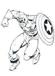 Coloring Pages For Kids Black Panther Captain Civil War Picture