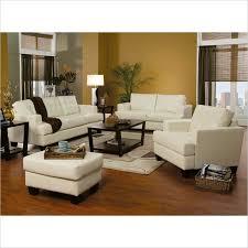 coaster samuel 3 piece leather sofa set in cream leather sofa